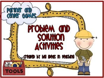Help your students practice the skill of problem and solution with this great set of activities. This set includes informational problem and solution examples. These activities meets the common core standards: CCSS.ELA-Literacy.RI.3.3, CCSS.ELA-Literacy.RI.3.8, CCSS.ELA-Literacy.RI.4.5, CCSS.ELA-Literacy.RI.5.5Included:* Problem and Solution Clue Words Posters* Problem and Solution Sort with 12 passage cards and mat.* Fix It Problem Game  There are 4  different game boards to use: 1 for…