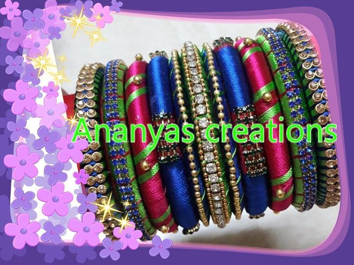 Silk thread bangles for function wear
