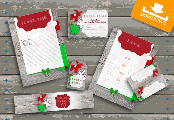 #Kit #scaricabili #gratis: Decori - occasione #Natale! Invita i tuoi amici su #Facebook e scarica i materiali per la tua #festa!