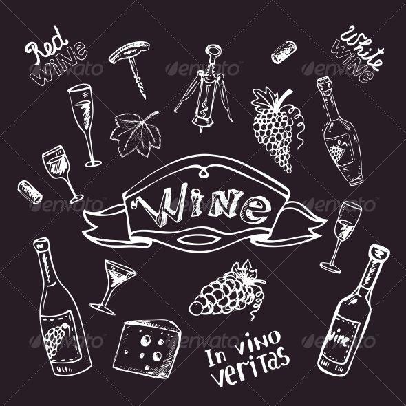 94 best chalk art images on pinterest chalk art for Wine chalkboard art
