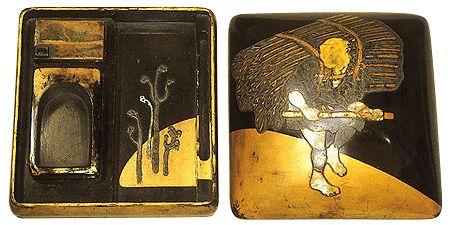 "Honami Kōetsu 本阿弥光悦 作 ""樵夫蒔絵硯箱"" 江戸時代 17世紀 静岡・MOA美術館"