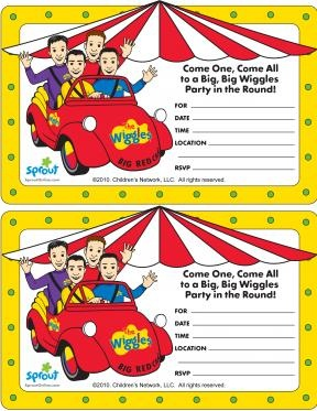 Wiggles Party Invitation   The Wiggles Coloring Pages   PBS KIDS Sprout