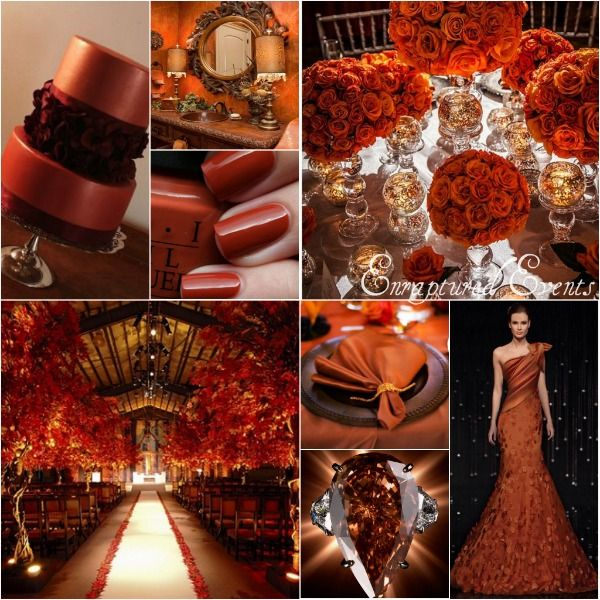 Burnt orange and brown wedding inspiration