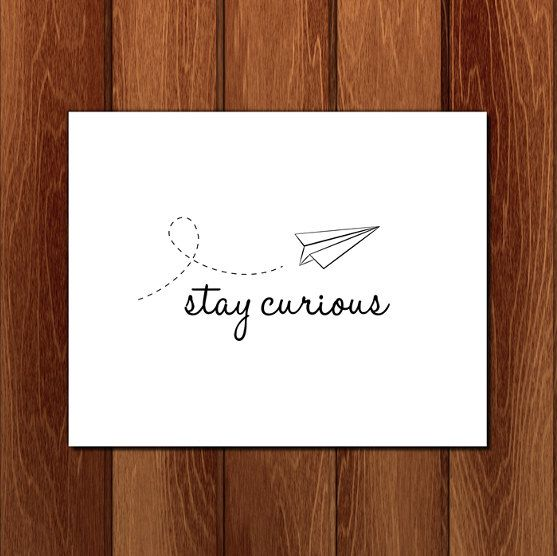 Stay curious printable nursery art Instant by CrayonBoxStudios