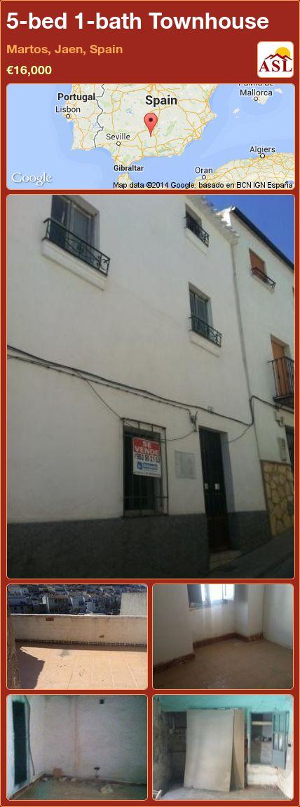 5-bed 1-bath Townhouse in Martos, Jaen, Spain ►€16,000 #PropertyForSaleInSpain
