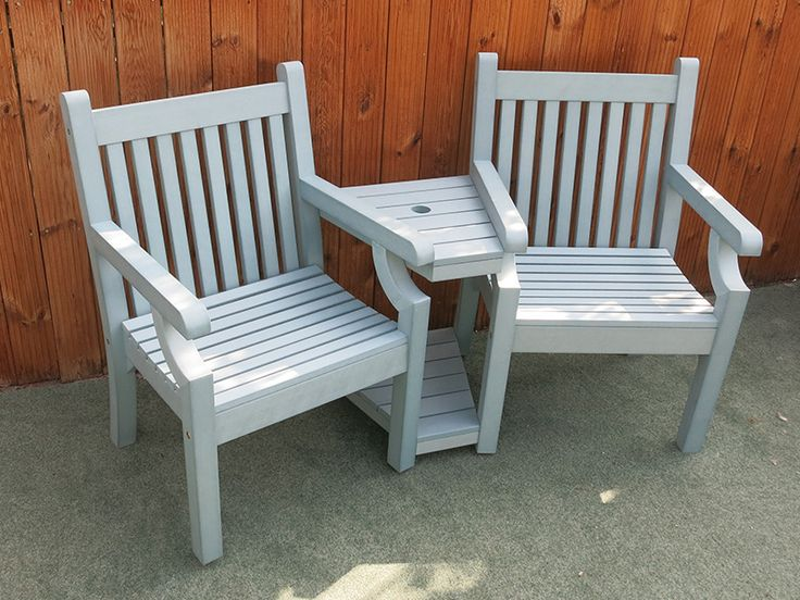 love seat bench new blue colour 2 year weatherproof guarantee free uk delivery via a - Wooden Garden Furniture Love Seats