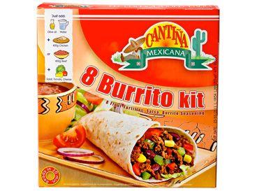Maak de lekkerste burrito's helemaal zelf in je eigen keuken met een beetje hulp van deze Burrito Dinnerkit. Lekker en handig tegelijk!