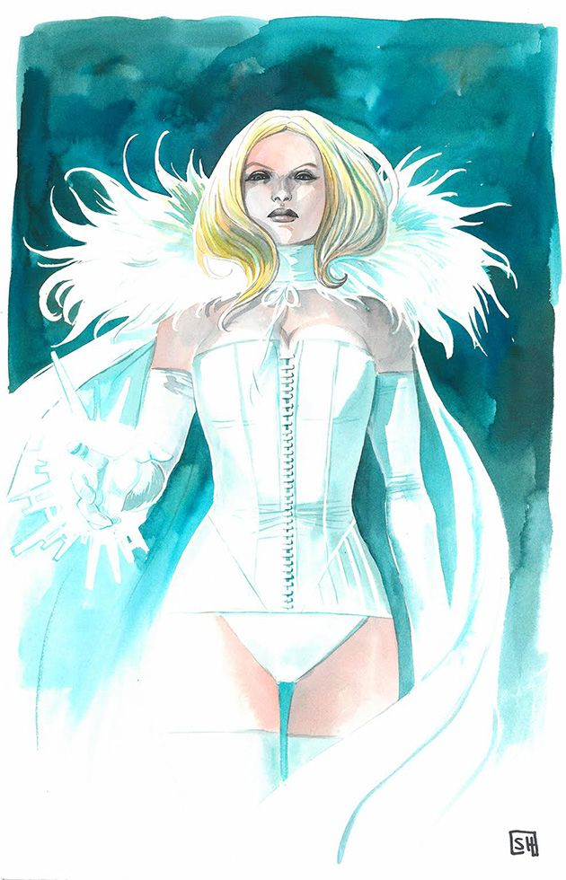 Emma Frost by Stephanie Hans from the collection of James Henry