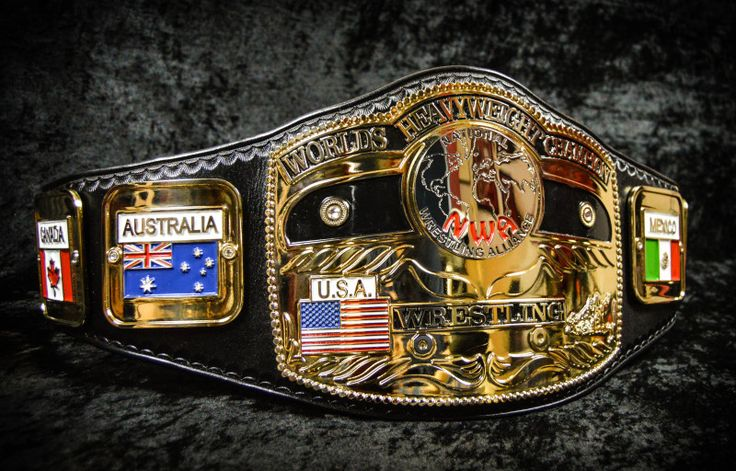 Re-Made NWA WORLD'S Heavyweight Championship Belt: Courtesy of Leather Rebels Custom from the U.K.