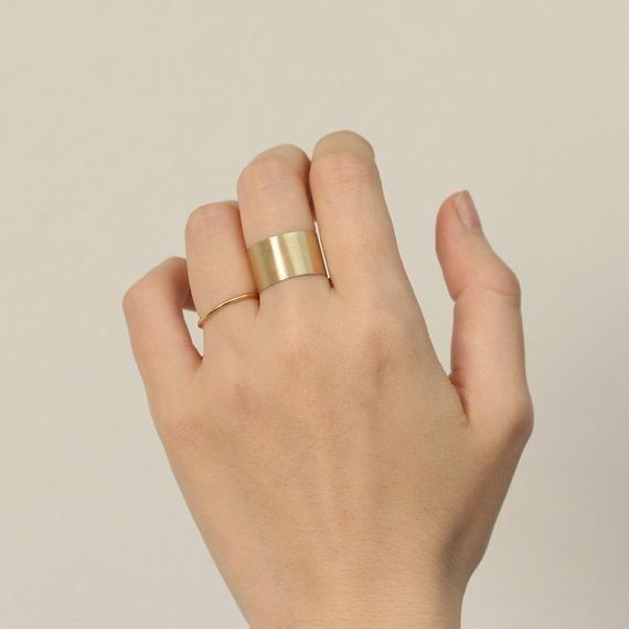 12mm Flat Band 14k Gold Flat Band Flat Wedding Band Etsy In 2020 Mens Gold Wedding Band Yellow Gold Wedding Band Gold Flats