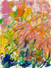 From Heritage Auctions: JOAN MITCHELL (American, 1926-1992). Petit Matin, 1982.