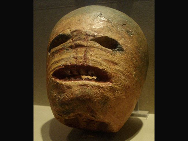 A 19th Century Irish Jack-o-Lantern on exhibit at the Museum of Country Life in Co. Mayo.