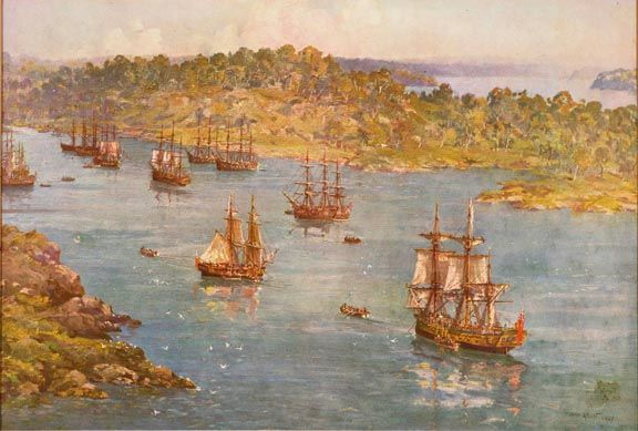 The First Fleet in Sydney Cove