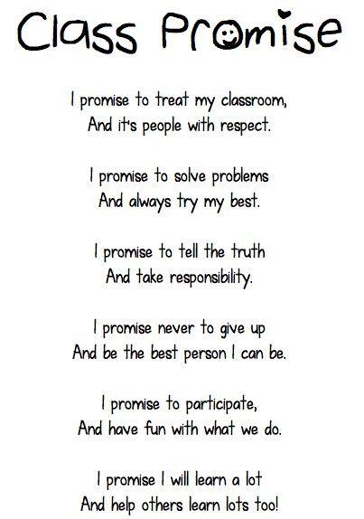 Classroom promise