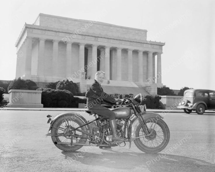 Lady On Harley Davidson Motorcycle 1900s 8x10 Reprint Of Old Photo