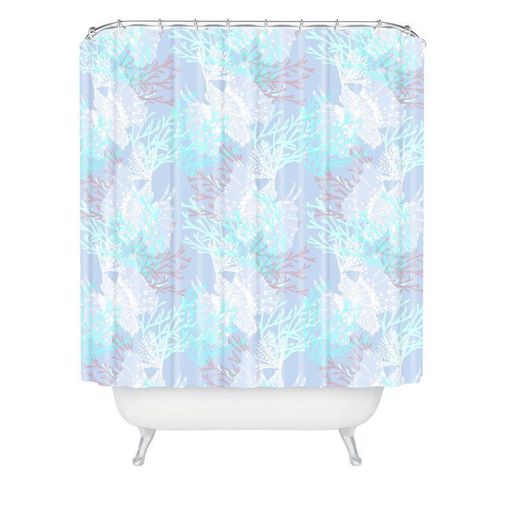 aimee st hill tiger fish blue shower curtain