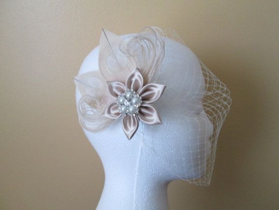 """I added """"Champagne Wedding Fascinator Peacock Hair by GibsonGirlGarters"""" to an #inlinkz linkup!https://www.etsy.com/ca/listing/183532578/champagne-wedding-fascinator-peacock?ref=shop_home_active_19"""