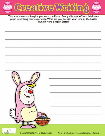 Easter Writing Prompt Worksheets