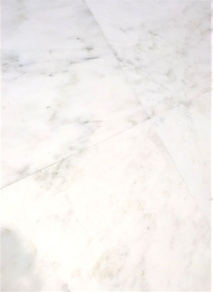 12 X12 White Carrara Honed Finish Straight Edge Genuine Marble Genuine Marble And Therefore There May Be Variations I Marble Tile Wall Tiles Kitchen And Bath