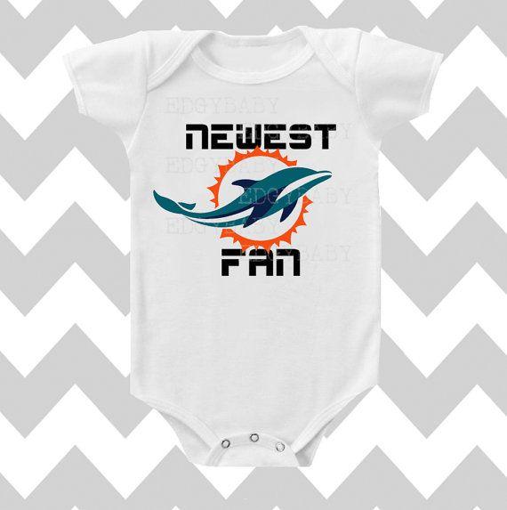 Newest Miami Dolphins Fan Neutral Bodysuit by SimplyChicBabyShop, $14.95