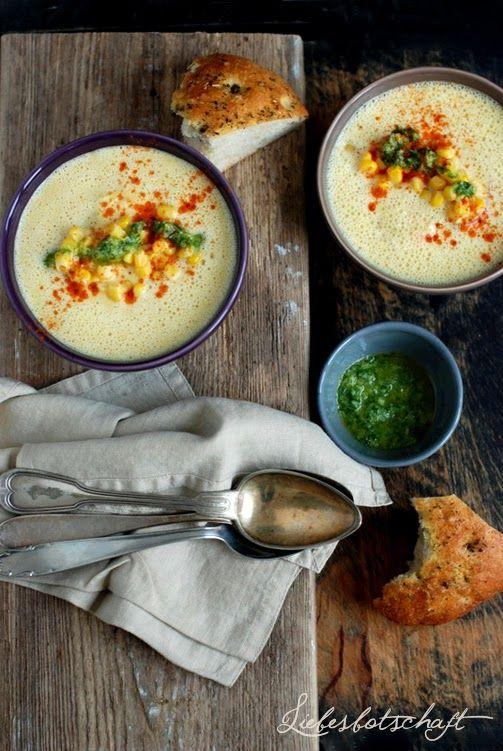 Liebesbotschaft: Mais-Suppe (noch nie gehört, muss ich unbedingt nachmachen)