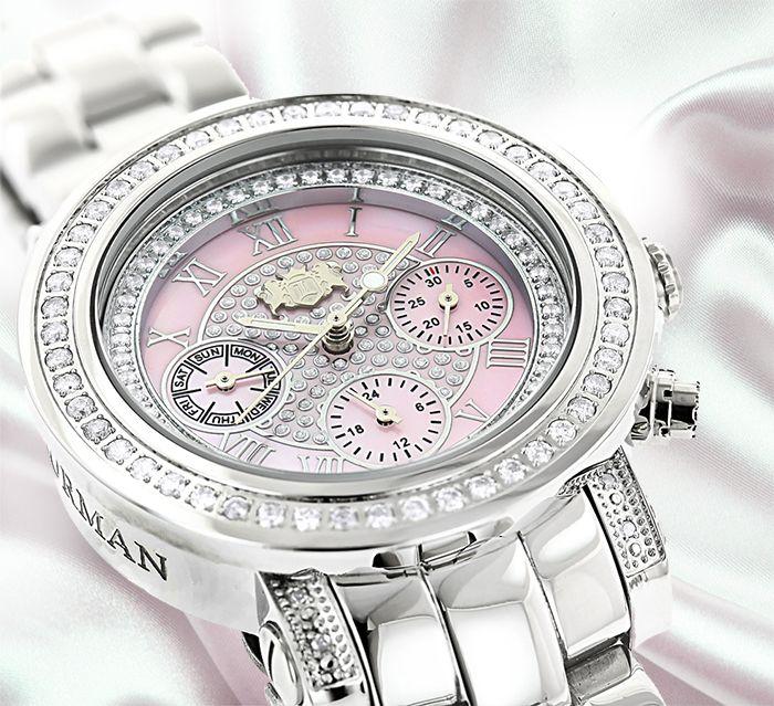 Explore Luxurman Ladies diamond watch collections..