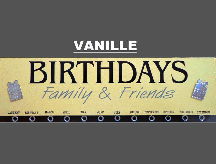 """Calendrier perpétuel des anniversaires """"vanille"""""""