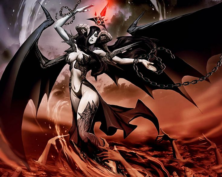Dark Angel Girl With Horns Wallpaper From Angels Wallpapers