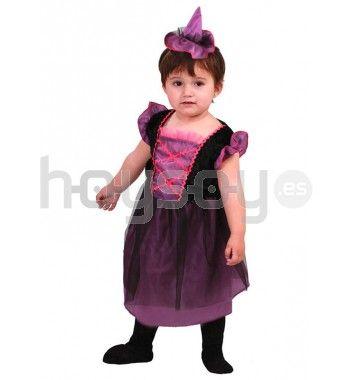 Original #disfraz de de #brujita morada de bebé para disfrutar de tu fiesta de #Halloween
