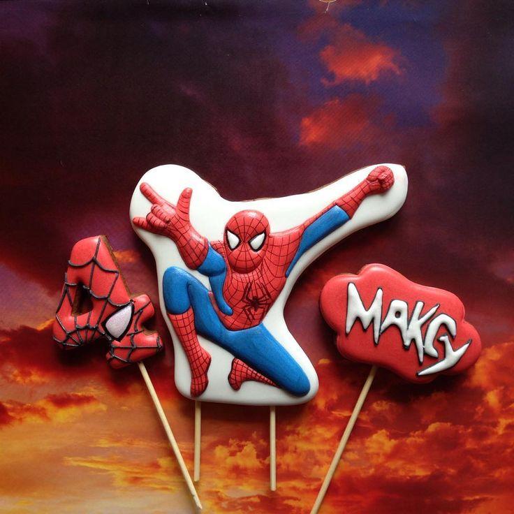И снова Человек-паук #usmarianna_mult #usmarianna_babycookies #пряникичелябинск #пряничныетопперы #icedcookies #сладкийподарок