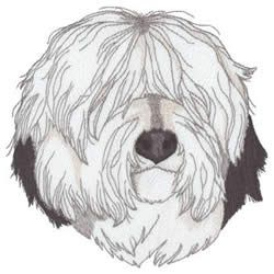 Dakota Collectibles Embroidery Design: Old English Sheepdog 6.00 inches H x 5.84 inches W