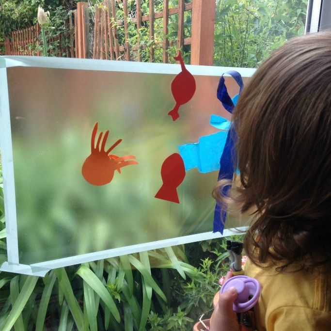 This fun ocean themed toddler art uses materials from around your home for an easy to set up sensory activity. Perfect for ocean themed preschool units.