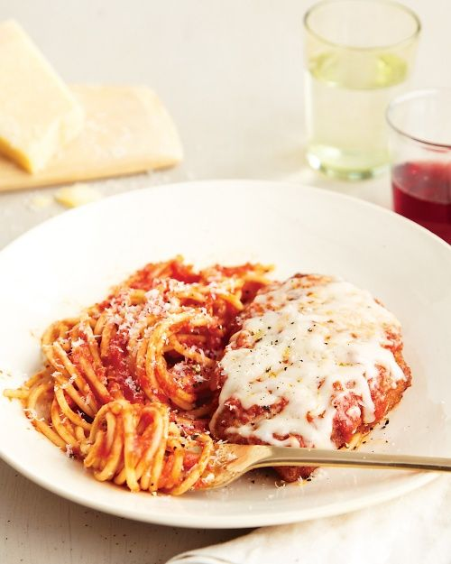 Chicken or Veal Parmigiana - Martha Stewart Recipes (Brigitte says this is awesome, and she makes a gluten free version)