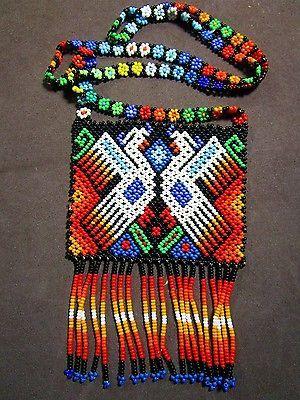 Huichol collar con cuentas peyote Flor Multicolor Arte Popular Mexicano