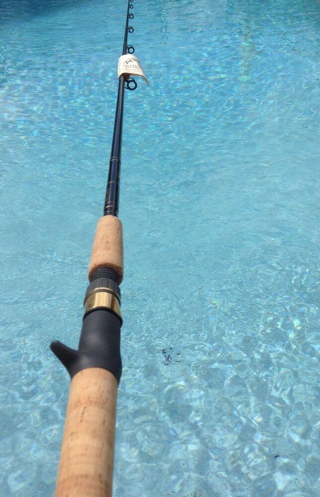 Phenix Custom Rods Boron Im6 75 H2 Bass Rod 1 Pc 8 20lb Made Usa Nos Phenix Bass Fishing Rods Custom Rods Custom Bass