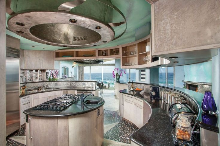Contemporary Kitchen with Prime Pacific Stainless Steel Bread Box, Brushed, Cambrian Black Granite