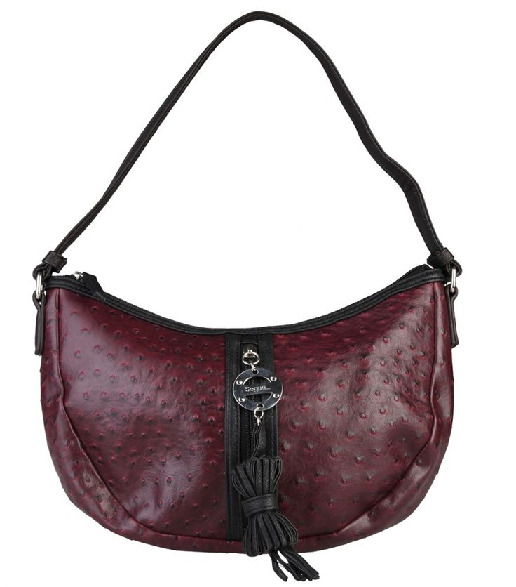 Dámská kabelka Segue, přes rameno, se vzorem - tmavě červená   obujsi.cz - dámská, pánská, dětská obuv a boty online, kabelky, módní doplňky