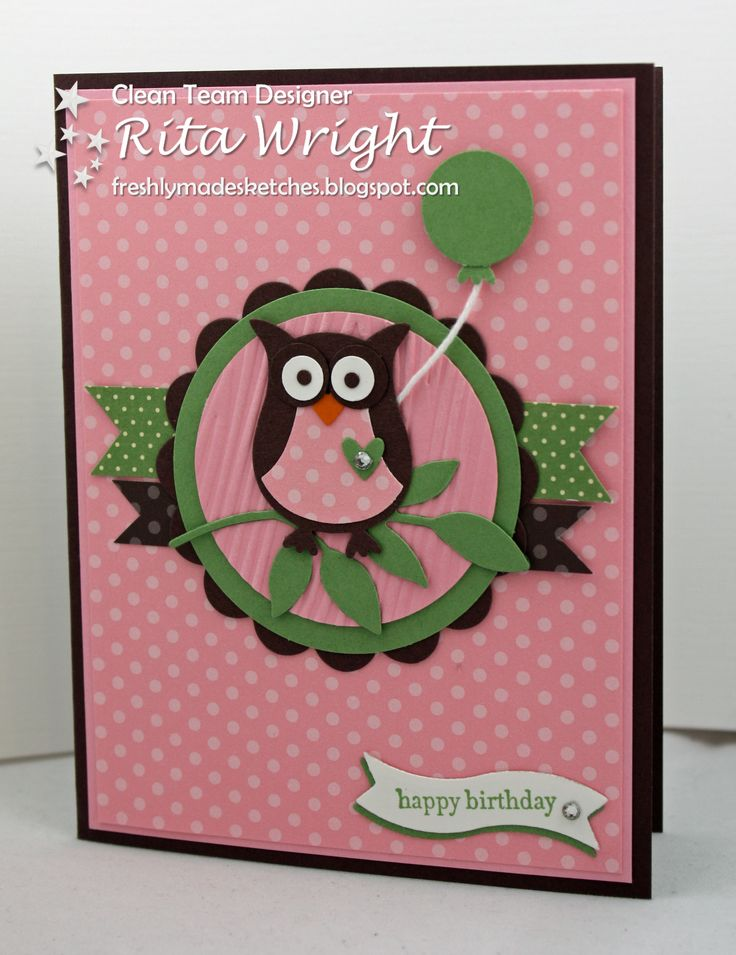 Card Making Ideas Owls Part - 18: Time For A New Freshly Made Sketch And This Time It Is From Me! I Made A  Card Similar To This A Few Months Ago And Thoug.