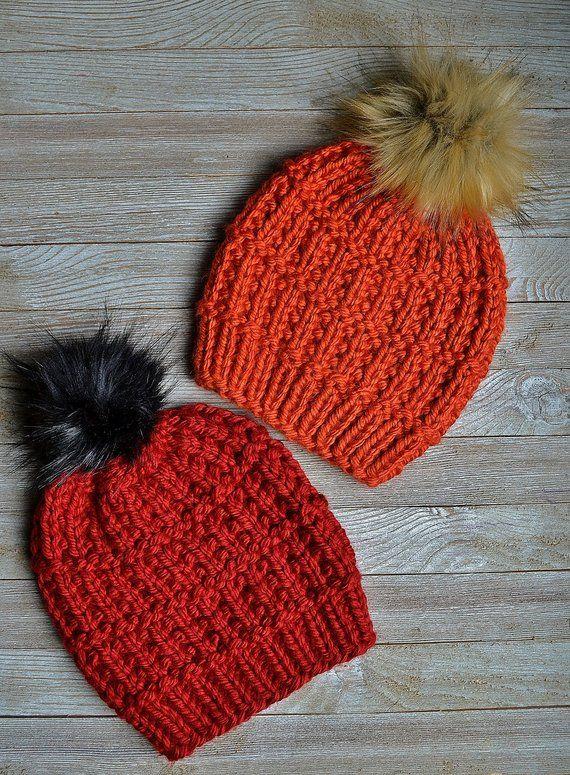 KNITTING PATTERN   The Orchard Beanie PDF File   Knit Hat Pattern   Knit Beanie Pattern   Easy Knitting Pattern   Beginner Knitting Pattern  – Knitting patterns