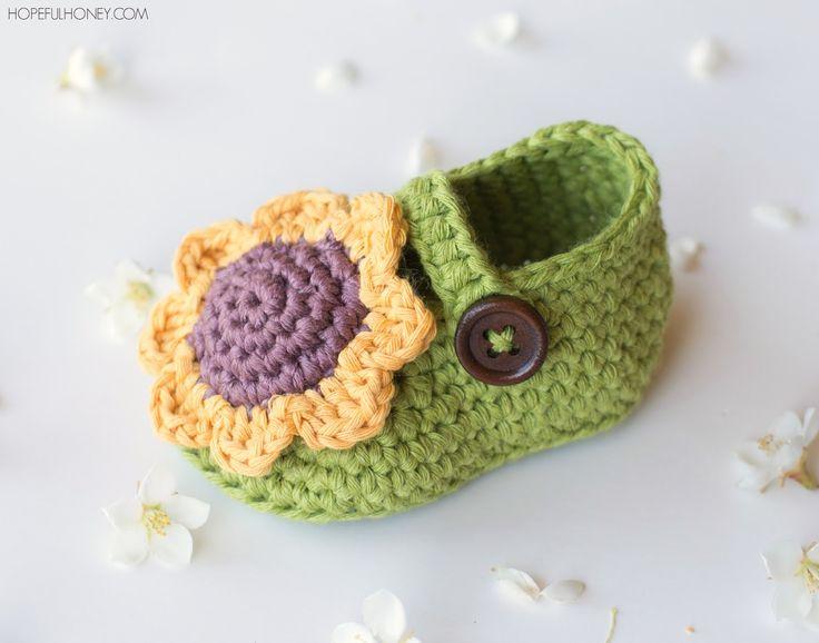 Sunflower+Baby+Booties+Crochet+Pattern+8.jpg (1600×1257)