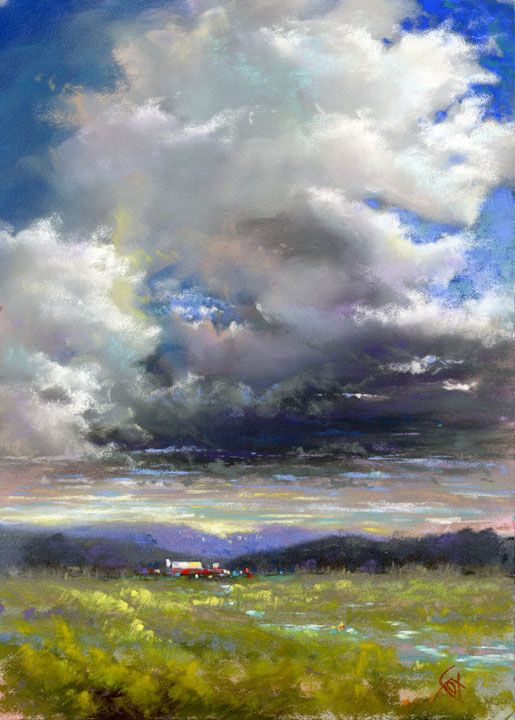 A Change in the Weather - pastel by Sharon Fox Cranston - SOLD