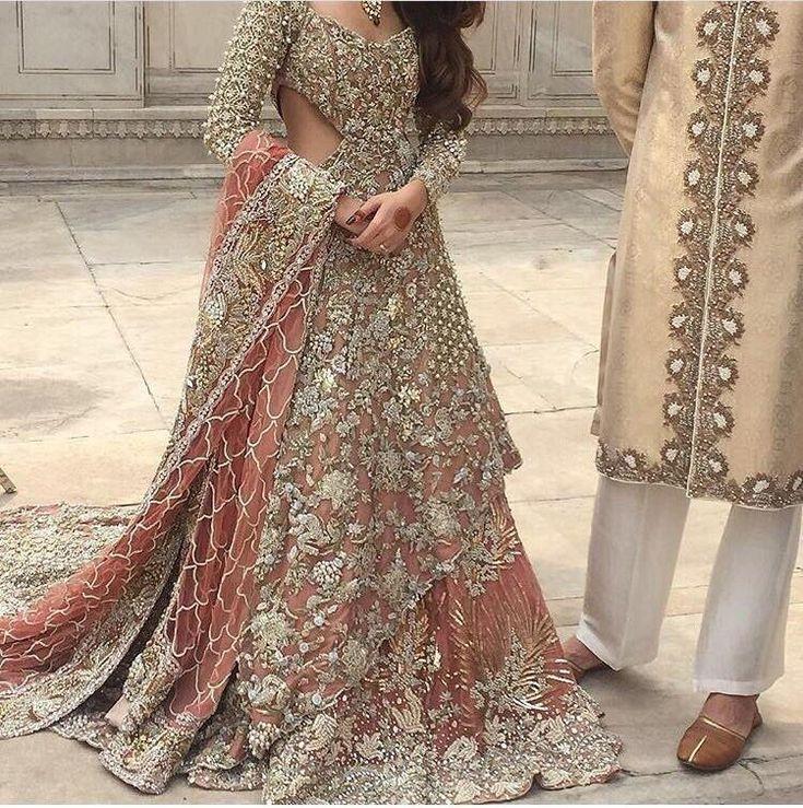 Wedding Bridal Lahnga With Dabkabthreads Pearls Sequance