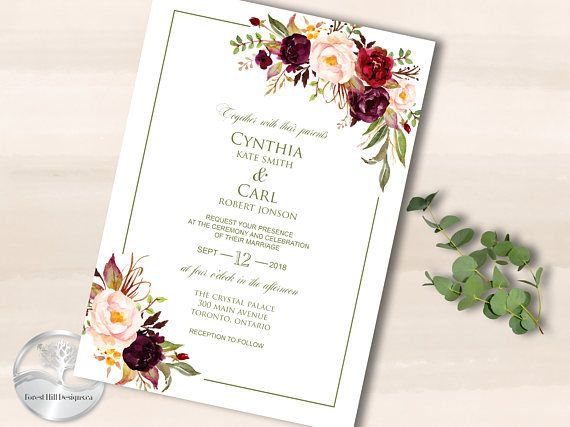 Wedding Invitations Printable Invitations Invitation