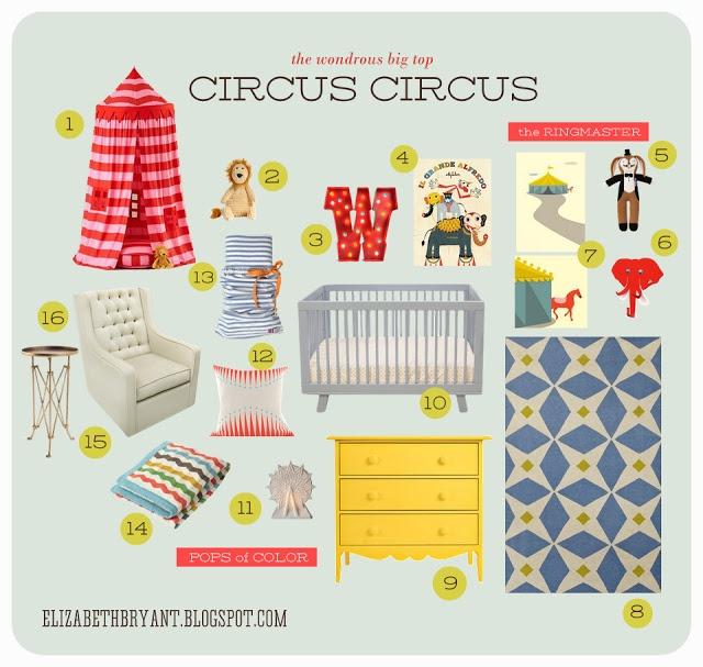 big top circus nursery