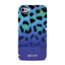 Forro iPhone 4 4S Just Cavalli - Micro Leopard Azul  CO$ 64.074,36