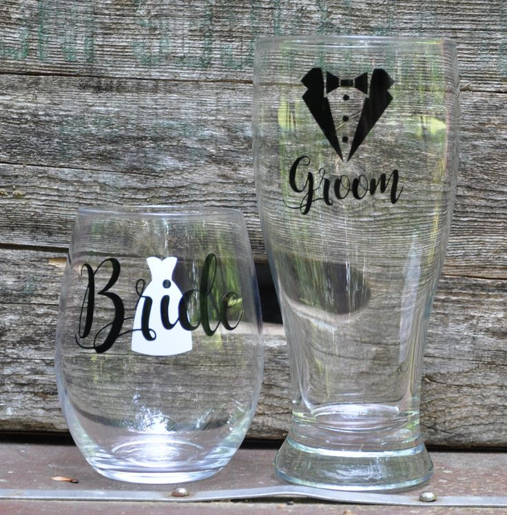 Personalised Hen Party Mr And Mrs Game In 2019: Bride & Groom Glasses, Mr And Mrs Glass Set, His And Hers