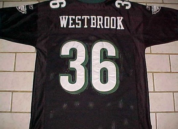 Philadelphia Eagles Brian Westbrook 36 NFL NFC East Black Green White Jersey 50 #Reebok #PhiladelphiaEagles