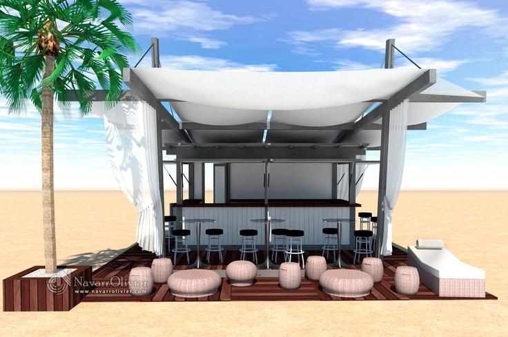 Proyecto de chiringuito desmontable estilo chill out by navarrolivier.com  #3d #chiringuito #boceto #proyecto #chillout #infografia #chiringuito #kiosco #beachbar #navarrolivier #Campello
