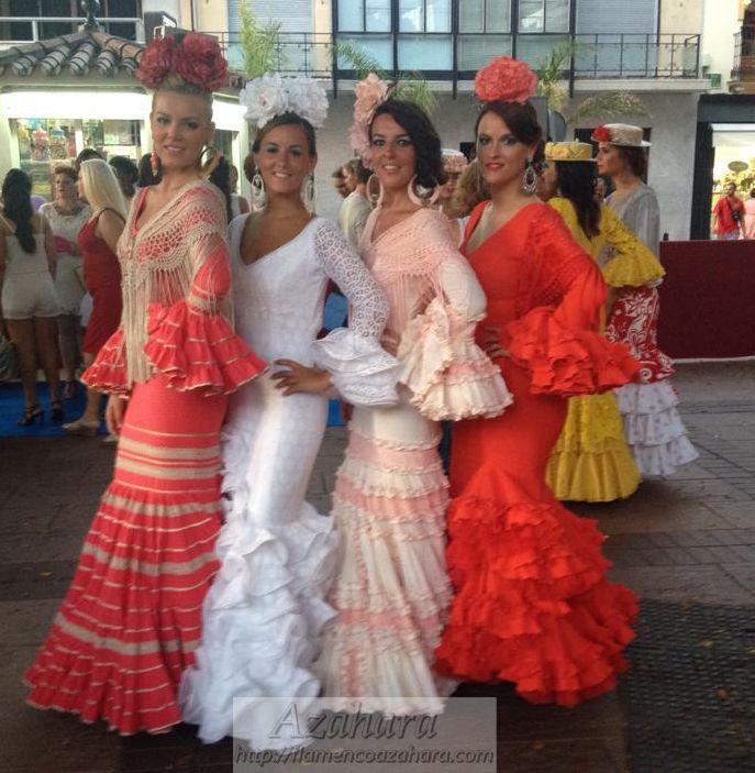 #Modelos #flamencos en la #NocheViva de #Fuengirola. Marcas exclusivas. #flamencoazahara