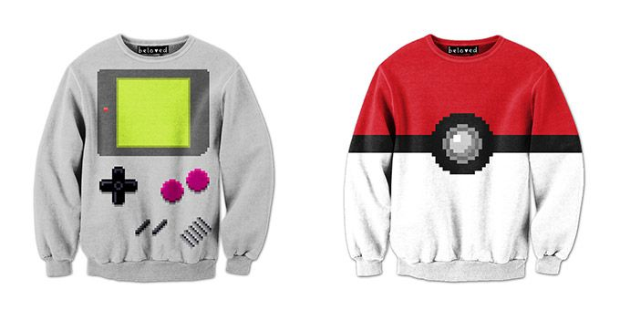 Pixelated Shirts by Drew Wise | Pokemon & Game Boy. WANT!